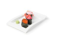 Insieme servito dei sushi immagini stock