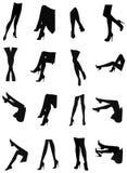 Insieme sexy della siluetta delle gambe Fotografia Stock Libera da Diritti