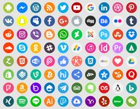 Insieme sociale dell'icona di media illustrazione vettoriale