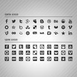 Insieme sociale dell'icona di media Fotografia Stock