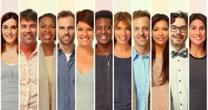 Insieme sorridente della gente Fotografia Stock Libera da Diritti