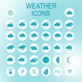 Insieme sottile di progettazione delle icone di vettore Fotografia Stock