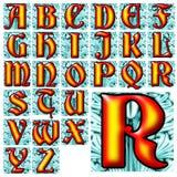 Insieme speciale di progettazione di alfabeto di ABC Fotografia Stock