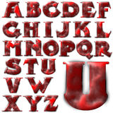 Insieme speciale di progettazione di alfabeto di ABC Illustrazione di Stock