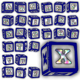 Insieme speciale di progettazione di alfabeto di ABC Fotografie Stock Libere da Diritti