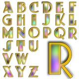 Insieme speciale di progettazione di alfabeto di ABC Immagini Stock Libere da Diritti