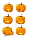 Insieme spettrale della zucca di Halloween Fotografie Stock
