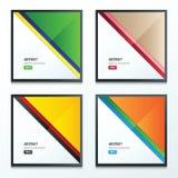 Insieme a strisce di progettazione del modello del triangolo Fotografia Stock