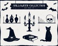 Insieme strutturato disegnato a mano di Halloween Immagine Stock