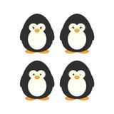 Insieme sveglio del pinguino Immagine Stock