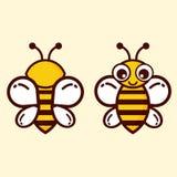 Insieme sveglio dell'ape Immagini Stock
