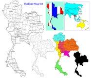 Insieme tailandese della mappa royalty illustrazione gratis
