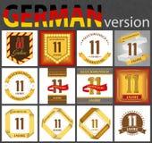 Insieme tedesco dei modelli di numero 11 royalty illustrazione gratis