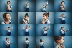 Insieme teenager della ragazza delle foto sul tema di sano Fotografie Stock