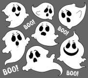 Insieme tematico 2 dei fantasmi illustrazione di stock