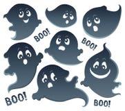 Insieme tematico 5 dei fantasmi illustrazione di stock