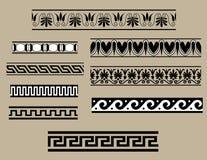 Insieme tradizionale dell'ornamento architettonico Immagine Stock