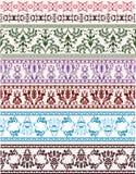 Insieme tradizionale dell'ornamento architettonico per il disegno Immagine Stock