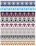 Insieme tradizionale dello stampino e dell'ornamento architettonico Immagini Stock Libere da Diritti