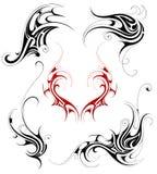 Insieme tribale del tatuaggio Fotografia Stock
