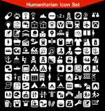 Insieme umanitario dell'icona Fotografia Stock