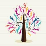 Insieme umano dell'albero di diversità Fotografia Stock Libera da Diritti