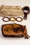 Insieme-un degli accessori e dei vestiti alla moda alla moda Fotografie Stock