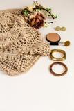 Insieme-un degli accessori e dei vestiti alla moda alla moda Fotografia Stock Libera da Diritti