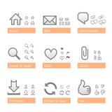 Insieme universale dell'icona del software. Parte di Web Fotografia Stock