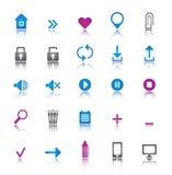 Insieme universale delle icone Fotografia Stock