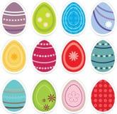 Insieme: Uova di Pasqua Fotografia Stock