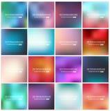 Insieme vago multicolore del fondo di vettore creativo astratto di concetto Fotografie Stock