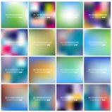 Insieme vago multicolore del fondo di vettore creativo astratto di concetto Immagine Stock Libera da Diritti