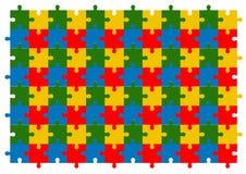 Insieme variopinto di vettore del fondo di puzzle Immagine Stock