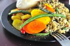 Insieme vegetariano tipico del riso immagine stock