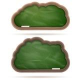 Insieme verde in bianco della nuvola della lavagna ENV 10 Immagini Stock Libere da Diritti