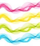 Insieme, verde, rosa, giallo W trasparente isolato dell'estratto blu Immagine Stock Libera da Diritti