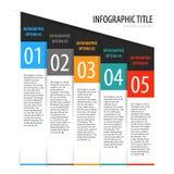 Insieme verticale piano dell'insegna di opzioni di infographics Fotografia Stock Libera da Diritti