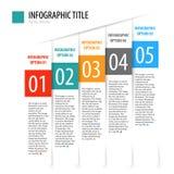 Insieme verticale piano dell'insegna di opzioni di infographics Immagine Stock