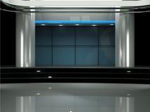 Insieme virtuale dello studio TV Immagini Stock