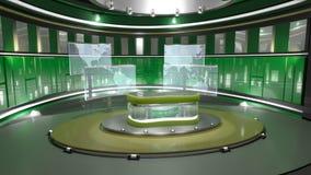 Insieme virtuale verde Fotografie Stock Libere da Diritti