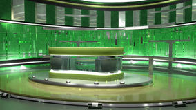 Insieme virtuale verde Fotografie Stock