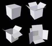 Insieme vuoto della scatola di cartone Fotografia Stock