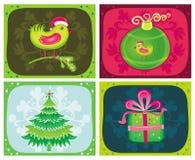 Insiemi 1 delle cartoline di Natale Fotografia Stock Libera da Diritti