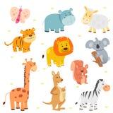 Insiemi animali dell'icona illustrazione di stock