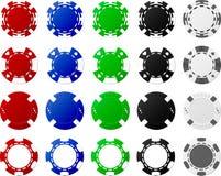 4 insiemi dei chip di mazza - 5 pezzi ciascuno Fotografie Stock Libere da Diritti