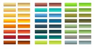 24 insiemi del bottone Immagine Stock Libera da Diritti
