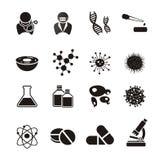 Insiemi dell'icona di biotecnologia illustrazione vettoriale