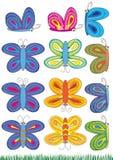 Insiemi delle farfalle Fotografia Stock Libera da Diritti