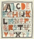 Insiemi di alfabeto nel vettore Immagine Stock Libera da Diritti